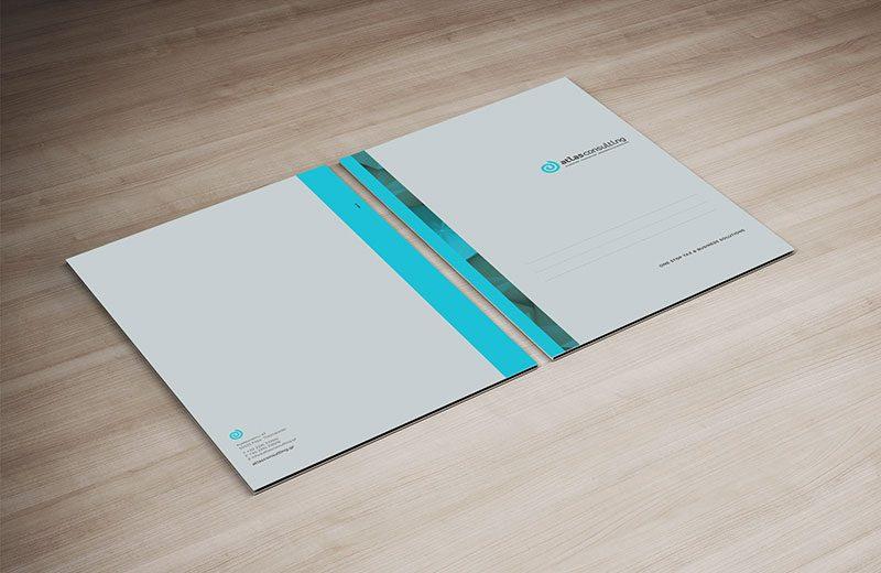 σχεδιασμός εταιρικού folder